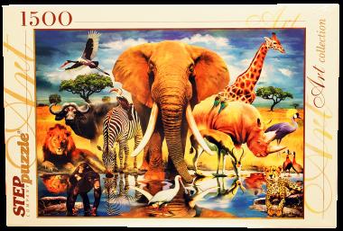 Пазл «В мире животных» 1500