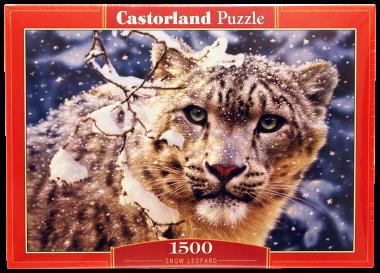 Пазл «Снежный леопард» 1500