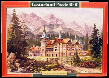 Пазл «Замок у подножия гор». 3000