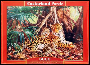 Пазл «Ягуары в джунглях»