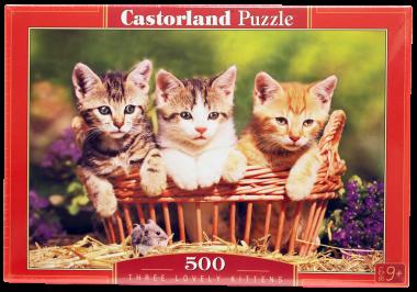 Пазл «Три котенка»