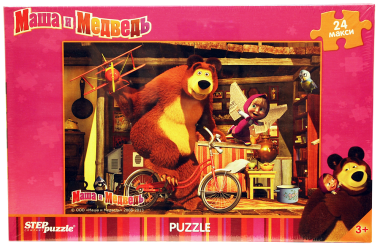 Пазл «Маша и Медведь». Step Puzzle 24