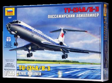 Авиалайнер Ту-134 Сборная модель