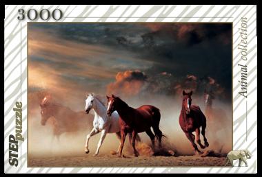 Пазл «Лошади». Step Puzzle 3000