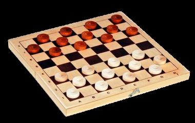Шашки деревянные со 100 клетчатой доской