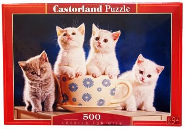 Пазл «4 котенка». Castorland 500 элементов