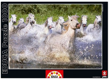 Пазл Белые камаргские лошади Educa
