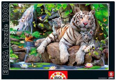Пазл Белые Бенгальские Тигры