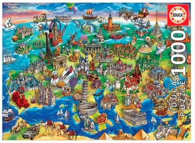 Пазл Европейский мир