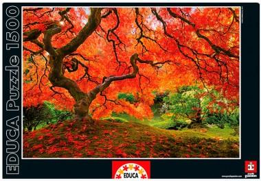 Пазл «Осень в японском саду». Educa