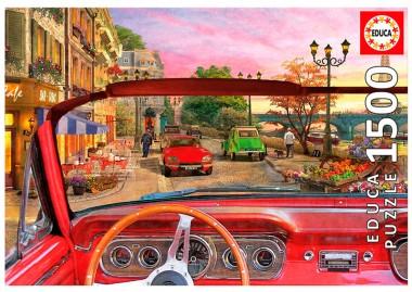 Пазл Париж в автомобиле