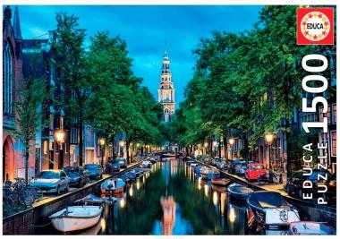 Пазл Сумерки на канале в Амстердаме Educa