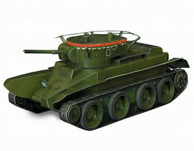 Модель Танк БТ5 Умная бумага