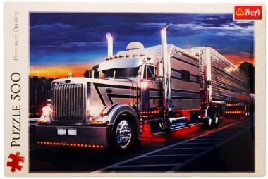 Пазл Серебряный грузовик Trefl 500
