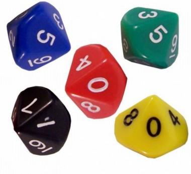 Игральные кости кубик классический 10 граней