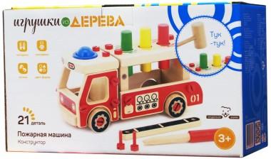 Деревянный конструктор Пожарная машина