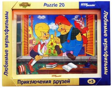 Деревянный пазл Приключения друзей арт.89707
