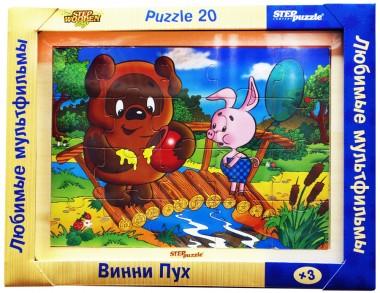 Винни-Пух деревянный пазл