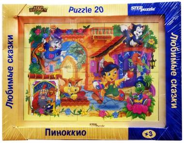 Деревянный пазл Пиноккио арт.89713