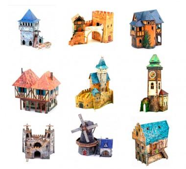 Умная бумага средневековый город №1