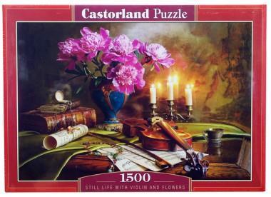 C-151530 Натюрморт - скрипка и цветы