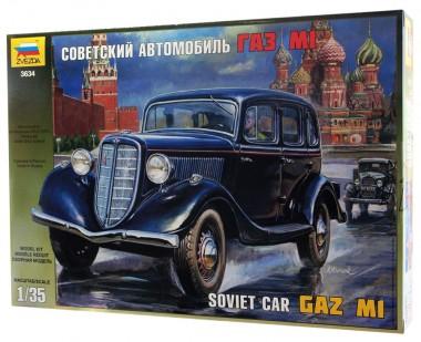 Советский автомобиль ГАЗ М1 1:35