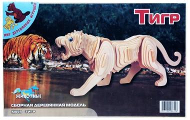 деревянная модель Тигр М003