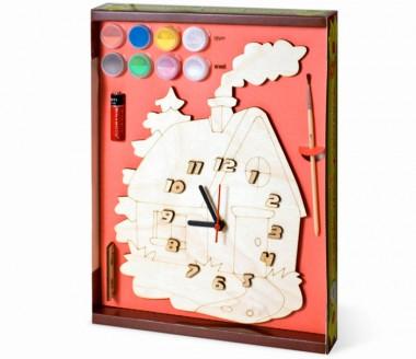Часы Домик с красками