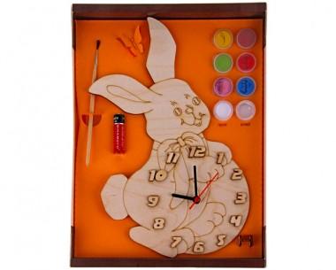 Часы Зайка с красками