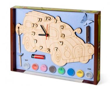 Часы Машинка с красками