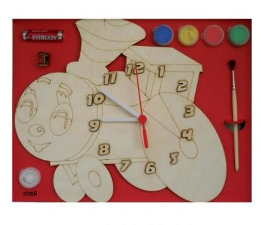 Часы Паровозик с красками