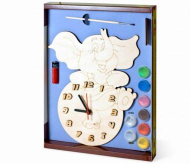 Часы Слоник с красками