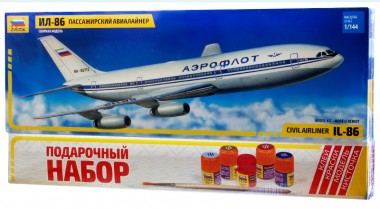 Авиалайнер Ил-86 подарочный набор