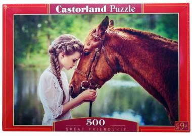 Пазл 500 арт.B-52516 Девушка и лошадь
