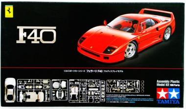 сборная модель тамия Ferrari F40 1:24