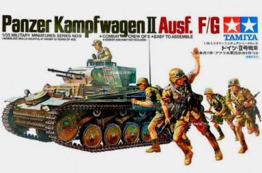 Модель тамия немецкий танк Pzkpw II Ausf F/G 1:35