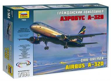Сборная модель Аэробус А-320 1:144 звезда