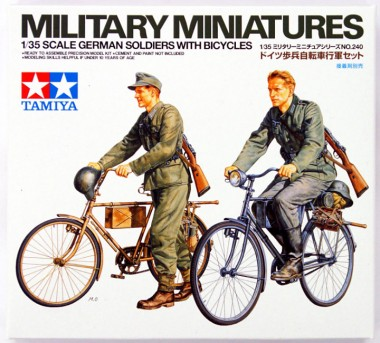 сборная модель немецкие солдаты на велосипедах