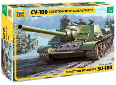 сборная модель звезда СУ-100 1:35