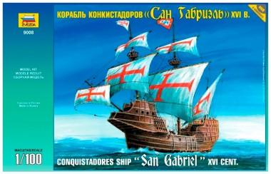 Корабль «Сан Габриэль» сборная модель Zvezda