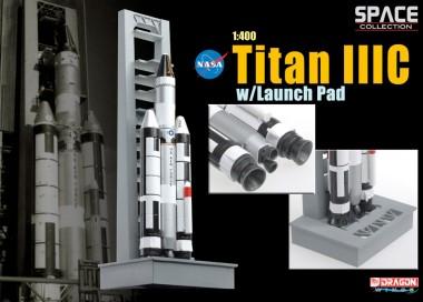 Космический аппарат Titan IIIC w/Launch Pad  1:400