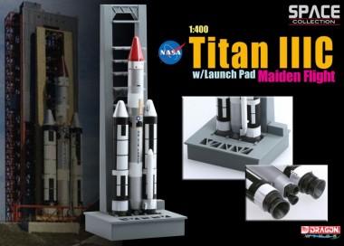 Масштабная модель космический аппарат Titan IIIC w/Launch Pad Maiden Flight  1:400