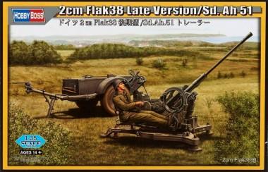 Пушка 2cm Flak38 Late Version/Sd.Ah51 1:35