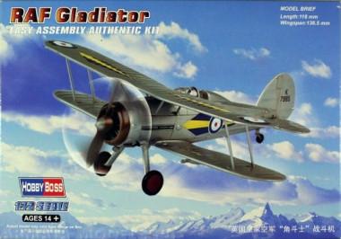 Сборная модель самолёт RAF Gladiator 1:72