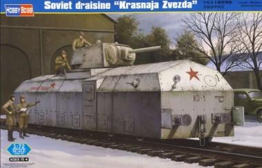 Сборная модель броневагон Soviet draisine Krasnaja Zvezda 1:72