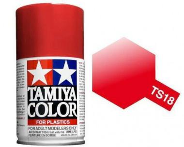 Краска TS-18 Metallic Red (Красная металлик) глянцевая