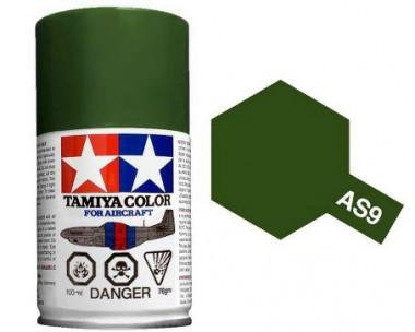 Краска AS-9 Dark Green (RAF) полуматовая спрей 100гр