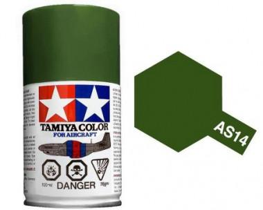 Краска AS-14 Olive Green (USAF) полуматовая спрей 100гр