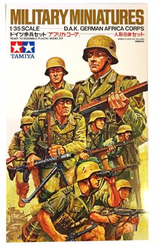 Немецкие солдаты африканского корпуса в атаке 1:35