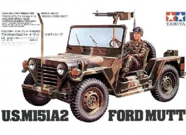 Джип M151A2 FORD MUTT С ПУЛЕМЕТОМ М60 1:35